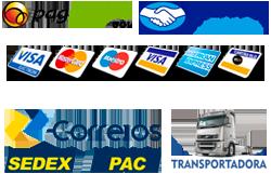 Formas de pagamento e envio
